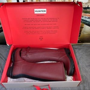 Hunter Slim Two Toned Wellington Snow Rain Boots